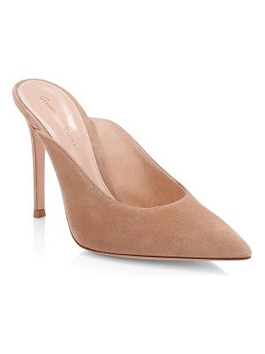 Gianvito Rossi fanny suede point-toe mules