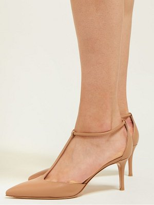 Gianvito Rossi t bar 70 leather pumps
