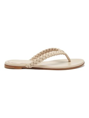 Gianvito Rossi tropea braided leather sandals