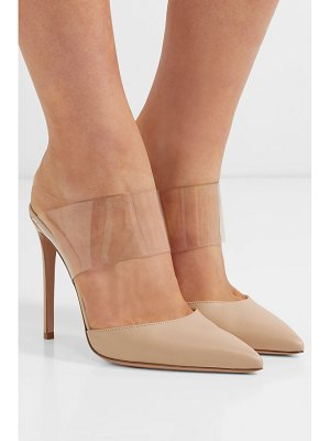 Gianvito Rossi virtua 105 pvc and leather mules
