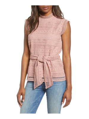 Gibson belted lace top