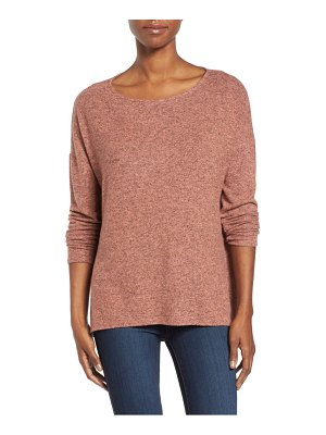 Gibson cozy ballet neck high/low pullover