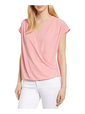 Gibson draped faux wrap top