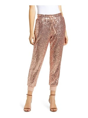 Gibson x glam fancy ashley sequin jogger pants