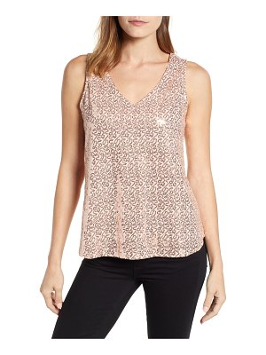 Gibson x glam squad cassie v-neck sequin tank