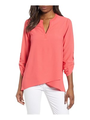 Gibson x international  day erin cross front tunic blouse