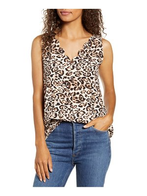 Gibson x living in yellow city safari scalloped v-neck tank