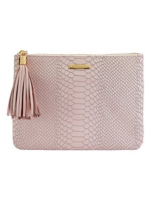 Gigi New York All In One Python-Embossed Clutch Bag