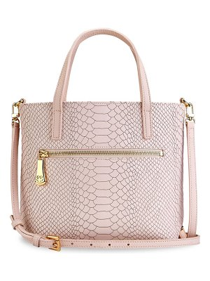 Gigi New York billie python-embossed leather crossbody tote