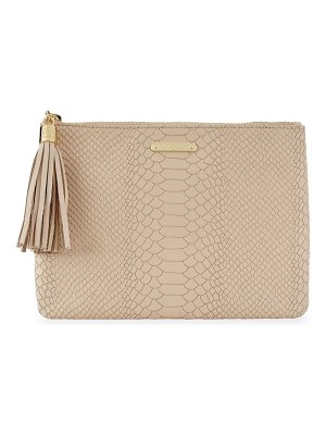 Gigi New York embossed python clutch