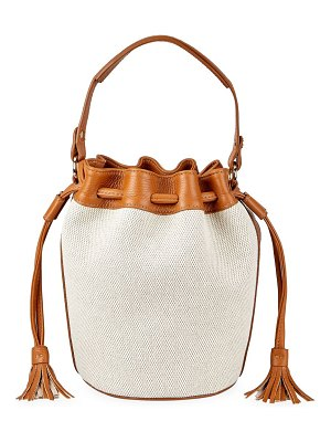 Gigi New York genevieve canvas & leather bucket bag