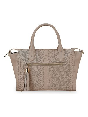 Gigi New York grace embossed leather satchel