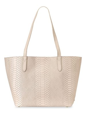 Gigi New York teddie python-print embossed leather tote