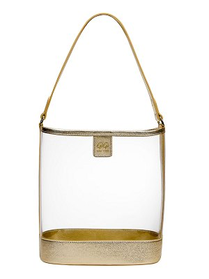 Gigi New York Virginia PVC Hobo Bag with Metallic Trim