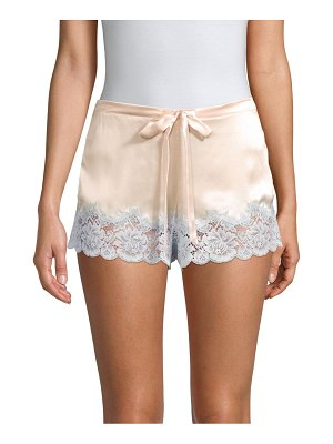 Ginia lace-trimmed silk sleep shorts