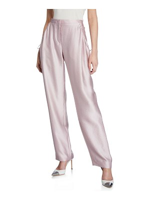 Giorgio Armani Silk Satin Seersucker Pants