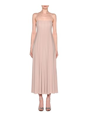 Giorgio Armani Square-Neck Matte Jersey Maxi Dress