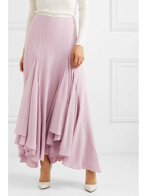 Giorgio Armani waterfall ruffled asymmetric silk-crepe skirt