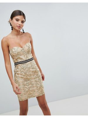 GIRL IN MIND Bandeau Embroidered Mini Dress