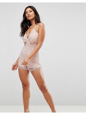 Girl In Mind Crochet Lace Romper