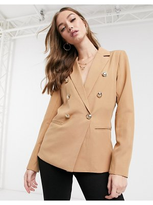 Girl In Mind double breasted blazer in tan