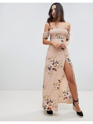 Girl In Mind floral bardot maxi dress