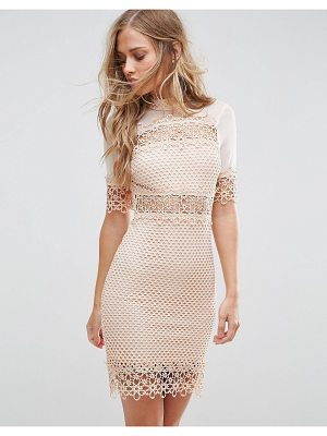 Girl In Mind high neck crochet shift dress
