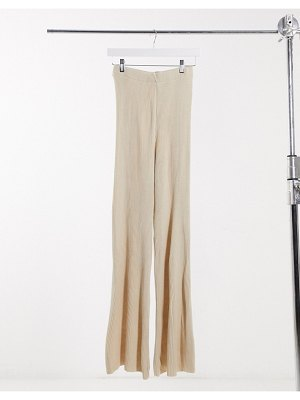Girl In Mind knitted wide leg pant in cream