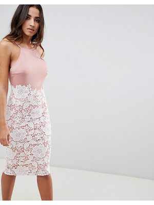 Girl In Mind lace low back midi dress