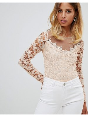 Girl In Mind long sleeve lace body
