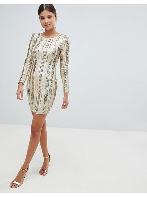 Girl In Mind Open Back Sequin Mini Dress