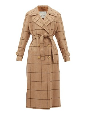 Giuliva Heritage Collection the christie checked wool trench coat