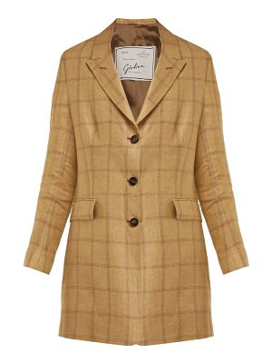 Giuliva Heritage Collection the karen single breasted linen blazer