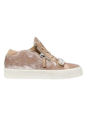 Giuseppe Zanotti 20mm bangle velvet sneakers