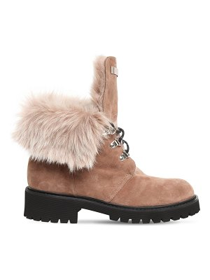 Giuseppe Zanotti 30mm suede & faux fur ankle boots