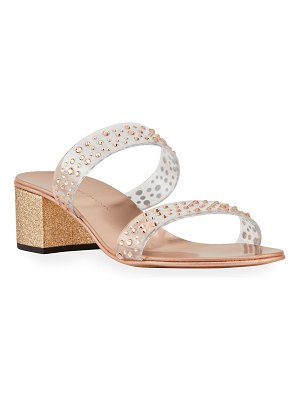 Giuseppe Zanotti Embellished Two Band Slide Sandals