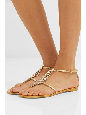 Giuseppe Zanotti josie embellished mirrored-leather sandals