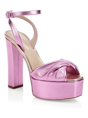 Giuseppe Zanotti lavinia metallic leather ankle-strap sandals