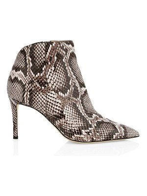 Giuseppe Zanotti sanke-embossed leather ankle boots