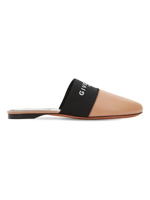 Givenchy 10mm bedford logo leather mules