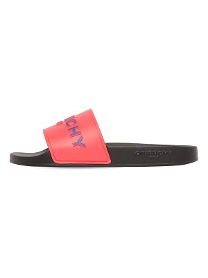 Givenchy 10mm logo embossed rubber slide sandals