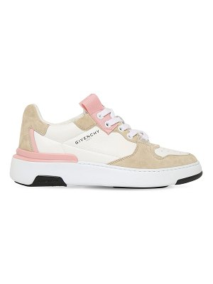 Givenchy 30mm wing leather & suede sneakers