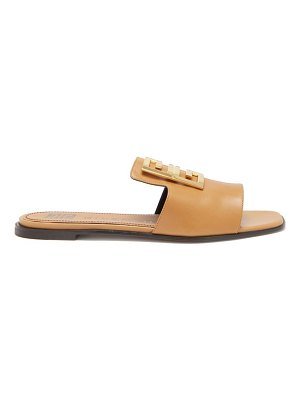 Givenchy 4g-plaque open-toe leather mules