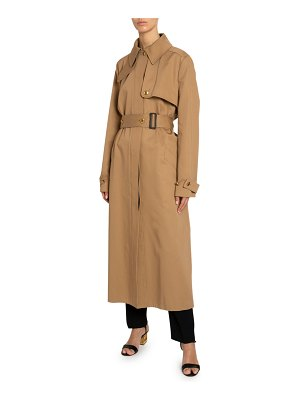 Givenchy Back-Striped Cotton Gabardine Trench Coat