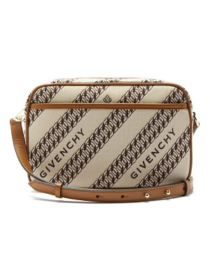 Givenchy bond chain-jacquard canvas camera bag