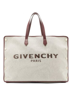 Givenchy bond large logo print canvas tote bag