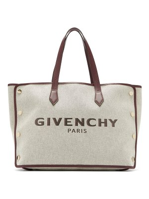 Givenchy bond medium logo print canvas tote bag