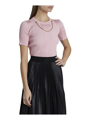 Givenchy Chain-Trim Knit Top