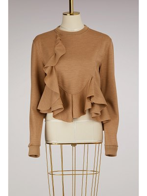 Givenchy Cotton Frill Sweater