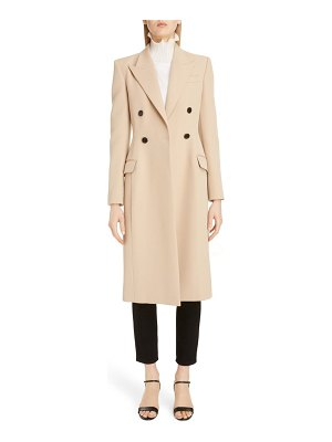 Givenchy double breasted wool gabardine coat